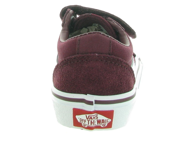 Vans baskets et sneakers ward v boy bordeaux4636901_4