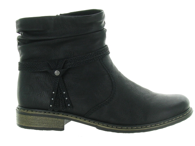 Rieker bottines et boots z4953 pack noir4683701_2