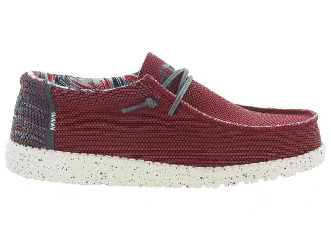 Hey dude baskets et sneakers wally sox rouge4703503_2