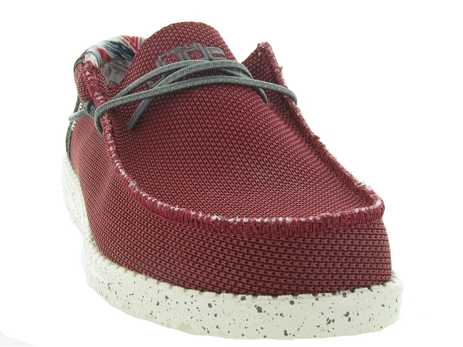 Hey dude baskets et sneakers wally sox rouge4703503_3