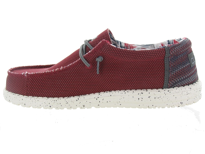 Hey dude baskets et sneakers wally sox rouge4703503_4