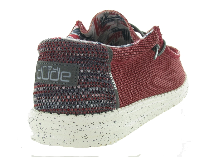 Hey dude baskets et sneakers wally sox rouge4703503_5