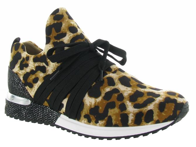 La Strada 1804189 Sneaker Black Glitter Leopard