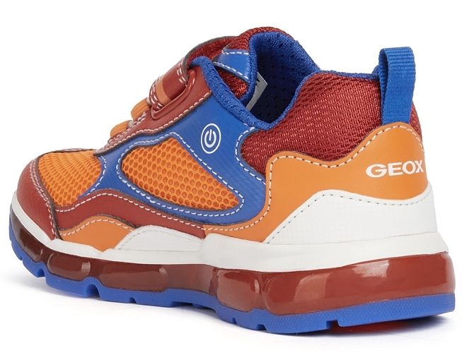 Geox baskets et sneakers j1544b android boy rouge4707702_4