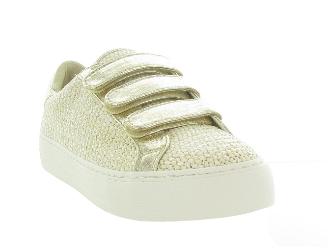 No name baskets et sneakers arcade strap rattan beige