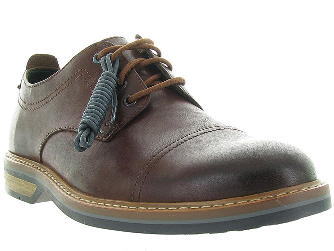 Clarks chaussures a lacets pitney cap marron