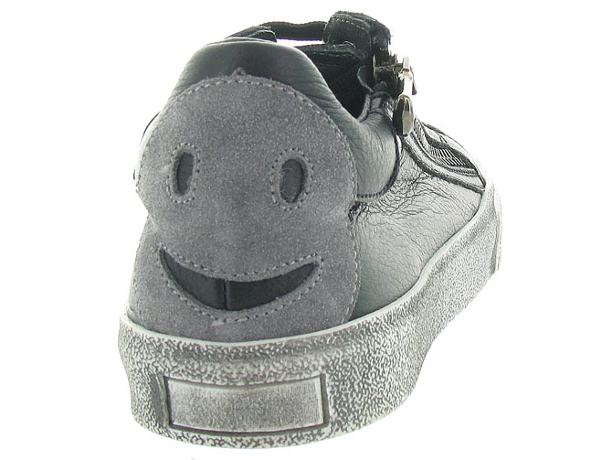 Reqins chaussures a lacets domino smiley gris