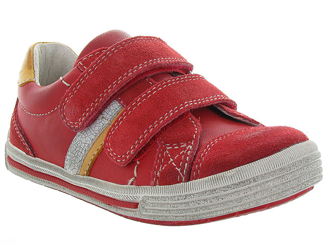 Noel kids chaussures a scratch ringo rouge