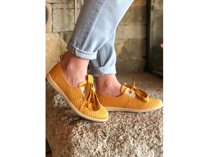 Armistice chaussures a lacets stone one sweet jaune5188701_2