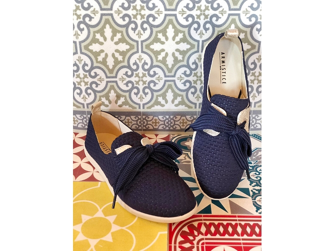Armistice chaussures a lacets stone one sweet marine5188702_2