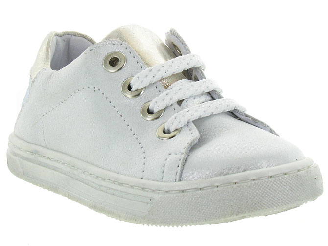Bellamy chaussures a lacets mars argent