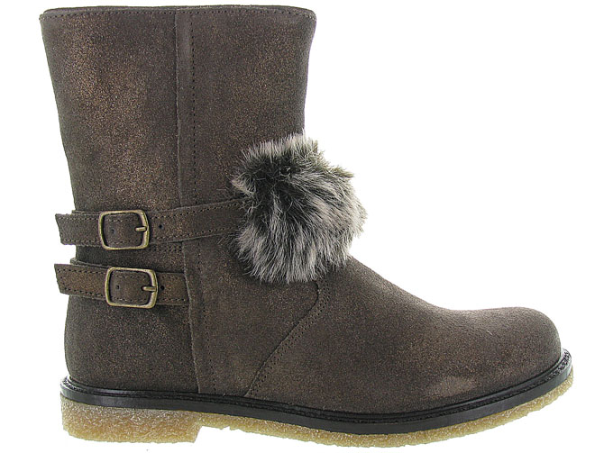 Apples and pears bottines et boots 8334 marron fonce7033102_2