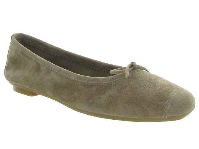 Reqins ballerines harmony peau taupe