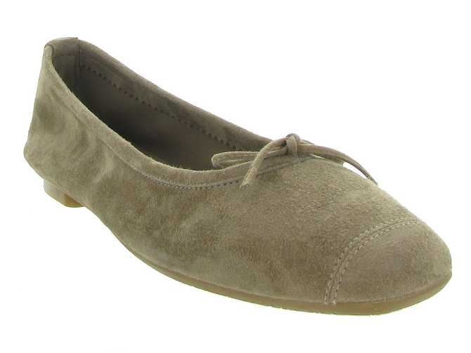 Reqins ballerines harmony peau taupe7092508_3