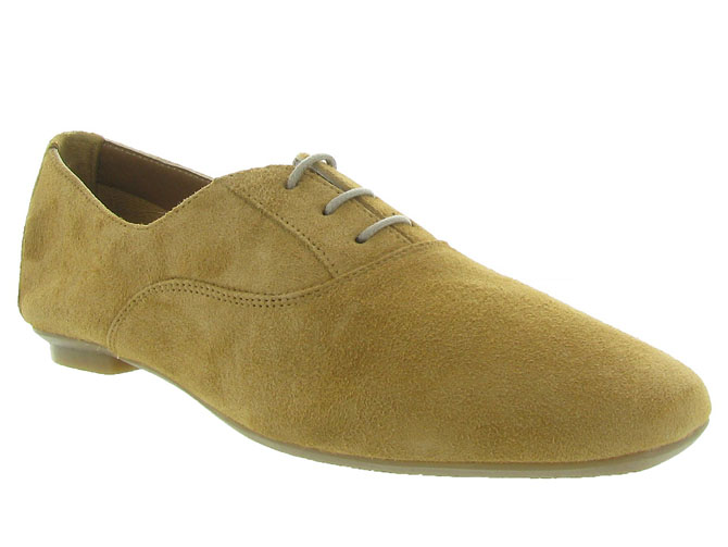 Reqins chaussures a lacets hydra peau camel