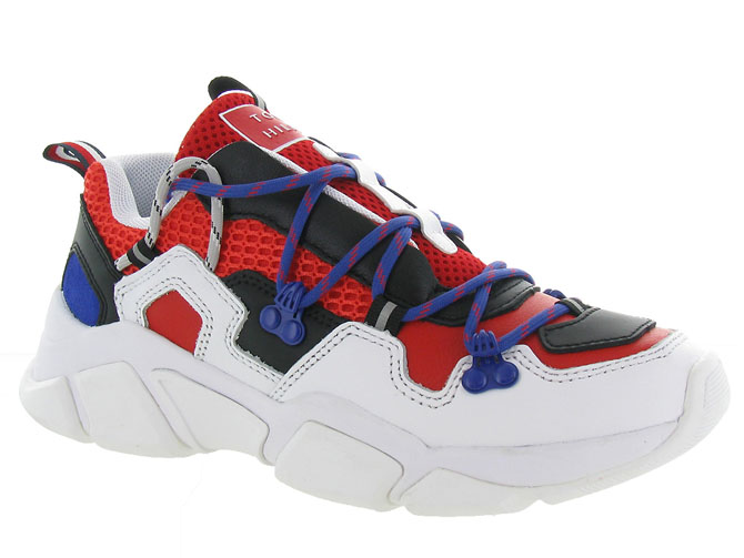 Tommy hilfiger baskets et sneakers city voyager chunky sneaker rouge
