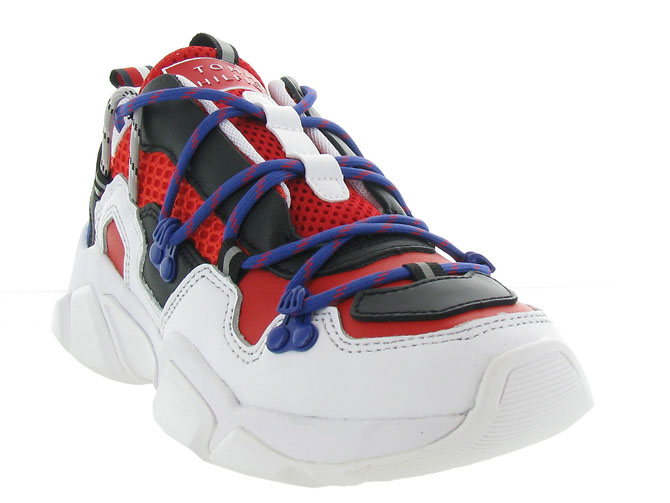 Tommy hilfiger baskets et sneakers city voyager chunky sneaker rouge7125303_3