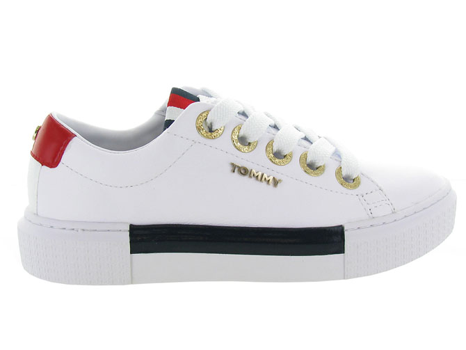 Tommy hilfiger baskets et sneakers leather elevated tommy sneaker blanc7125402_2