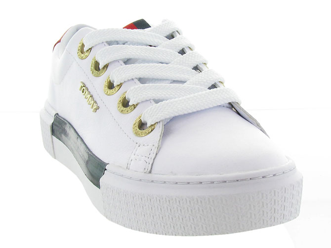 Tommy hilfiger baskets et sneakers leather elevated tommy sneaker blanc7125402_3