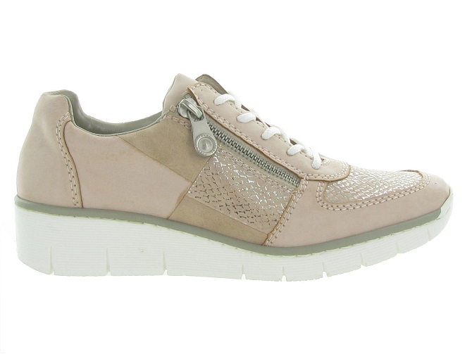 Rieker baskets et sneakers 53714 rose7177701_2