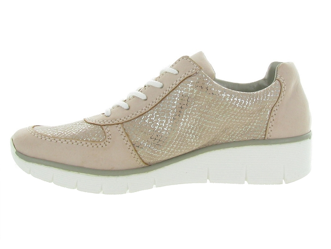 Rieker baskets et sneakers 53714 rose7177701_4
