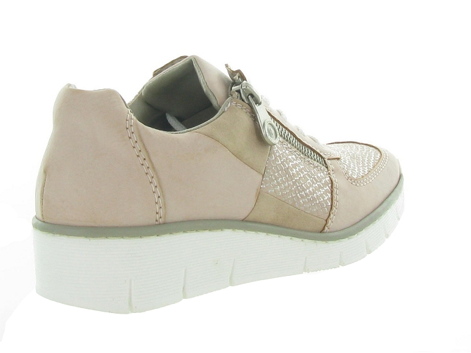 Rieker baskets et sneakers 53714 rose7177701_5