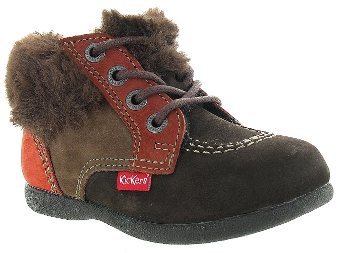 Kickers apres ski bottes fourrees babyfrost boy marron fonce