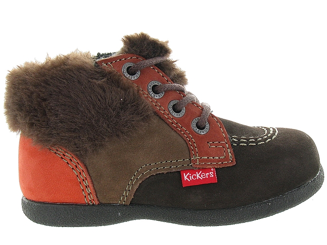 Kickers apres ski bottes fourrees babyfrost boy marron fonce9802802_2