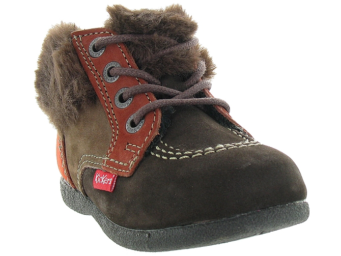 Kickers apres ski bottes fourrees babyfrost boy marron fonce9802802_3