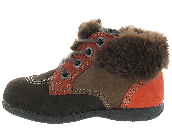 Kickers apres ski bottes fourrees babyfrost boy marron fonce9802802_4