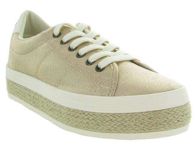 No name baskets et sneakers malibu sneaker beige9960101_3