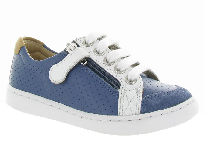 Shoo pom chaussures a lacets play lo bi zip boy marine