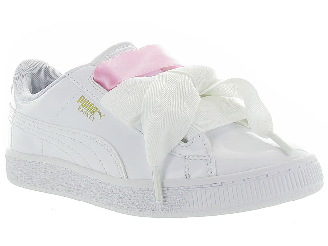 Puma baskets et sneakers heart basket patent jr blanc