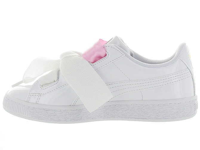 Puma baskets et sneakers heart basket patent jr blanc9985603_4