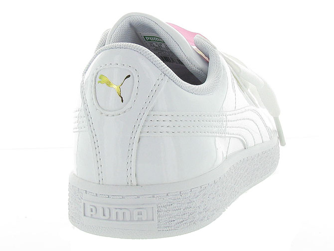 Puma baskets et sneakers heart basket patent jr blanc9985603_5