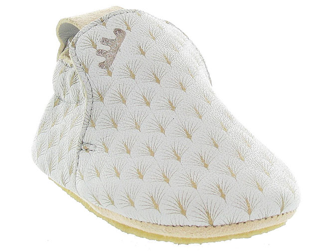 Easy peasy chaussons et pantoufles blublu feuille beige9995801_3