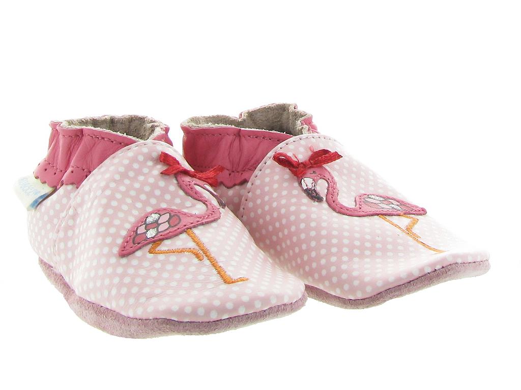 Robeez Pink Flamingo Chaussons b/éb/é Fille